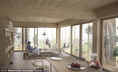 inside wooden highrise