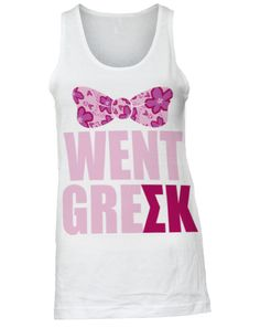 Sigma Kappa Went Greek Bid Day Tank - Adam Block Design