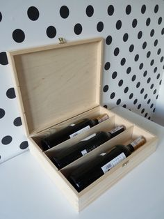 Triple wooden wine box, wooden wine box ceremony, unfinished triple winebox, natural wood, wood for decoupage, wedding gift, storage box