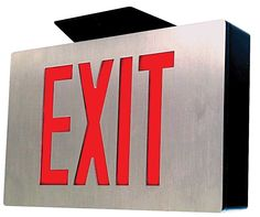 Exit signs | sentry die cast aluminum led exit signs command attention with ...