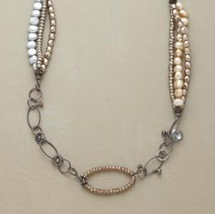 freshwater pearls, beads and chain