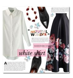 """""""Wardrobe Staples: The White Shirt"""" by dolly-valkyrie ❤ liked on Polyvore featuring Chicwish, Acne Studios, Kate Spade and WardrobeStaples"""