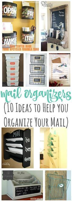 A round up of mail organizers to help you get some inspiration for your own mail organizing system.