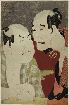 Toshusai Sharaku Japanese, active 1794-95, The Actors Nakajima Wadaemon (R) and Nakamura Konozo (L) as Chozaemon and Kanagawaya no Gon, respectively