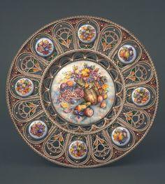 By Artist Strulis V., Khokhlov V.Material Silver jewelry - 6 micron plating, copper, enamel, stained glass enamel