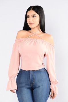 Cubana Top - Blush. Size: M