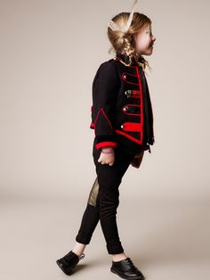 The Military jacket and metallic patch jodphurs // DEluma Kids for girlswear winter 2013