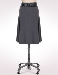 Misses | Skirts | Belted Godet Skirt | dressbarn