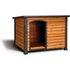 Extreme Outback Log Cabin Dog House 45.5x26.5x27.5 ** You can get more details by clicking on the image. (This is an affiliate link) #DogHouses