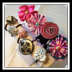 Glam Ponytail Holders / hair ties / hair flair / hair accessories DIY (Created By Cyndi)