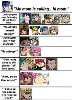 Nerd Memes, Stupid Funny Memes, Jojo's Bizarre Adventure Anime, Jojo Bizzare Adventure, Jojo Now, Jojo Parts, Jojo Memes, Funny Anime Pics, Fan Art
