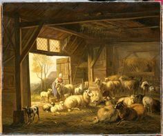 Jan Van Ravenswaay, Sheep and Goats In The Stable. 1821