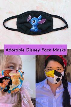 Here is a list of cute Disney face masks for you to keep yourself and your loved ones protected. #disney #face #mask