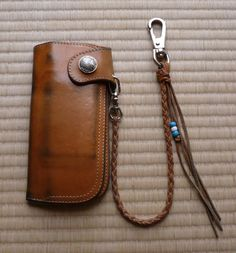 A well used long leather biker style wallet from the iconic Japanese Redmoon brand.