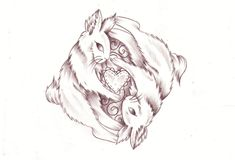 Yin Yang bunny sketch by *Nevermore-Ink on deviantART