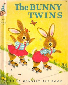 ''The Bunny Twins'', a Rand McNally Elf Book Written by Helen Wing Illustrated by Marjorie Cooper Rand McNally, 1964