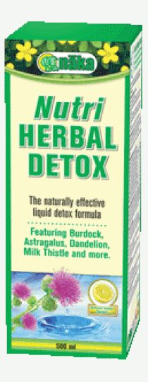 Naka Nutri Herbal Detox - to help you meet your daily detox goals. Introducing Nutri Herbal Detox by Naka Herbs & Vitamins – a carefully formulated liquid herbal remedy designed to support healthy immune system functions, liver and kidney functions, and increase bile flow.