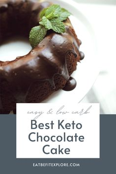 The best Keto Chocolate Cake recipe I have ever tried! The batter uses zucchini which makes it so moist and fluffy! #chocolatecake #ketocake #ketodessert #zucchini Low Carb Desserts, Fun Desserts, Low Carb Recipes, Dessert Recipes, Healthy Recipes, Sugar Free Peanut Butter Cookies, Sugar Free Carrot Cake, Keto Chocolate Recipe, Sugar Free Chocolate