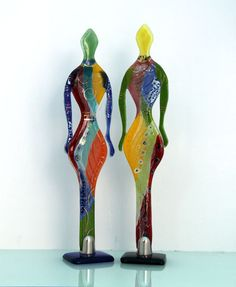 Valentines day - Fused glass Figure Sculpture art
