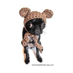 CROCHET DOG HATS bear hat ewok star wars by HandmadeMonster, $16.00
