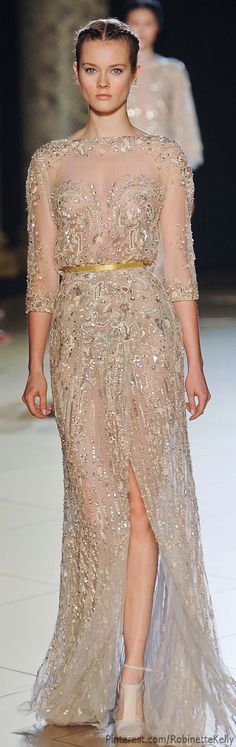 Elie Saab Haute Couture | Fall 2012; Can anyone else agree: perfect wedding gown?