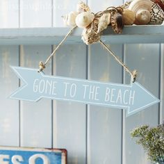 Arrow Sign - Double Sided Gone to the Beach NEW NEW NEW
