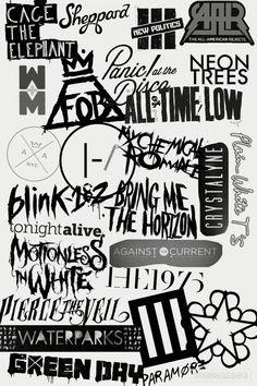 Emo Bands, Rock Bands, Music Bands, Pop Punk Bands, Emo Wallpaper, Gothic Wallpaper, Metal Band Logos, Metal Bands, Music Journal