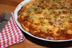 Hartige taart met aardappel en spek