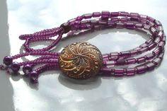 Geschenkidee  Luxusarmband mit Vintage-Knopf  Dieses Armband hat das Zeug zum absoluten Lieblingsstück!