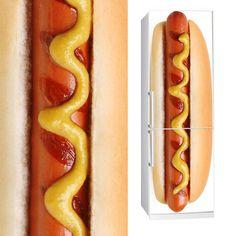 Fabric Fridge sticker HOT DOG by Sticky!!!