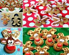 Learn how to make Gingerbread Reindeer Cookies by flipping a gingerbread man upside down. We have a video tutorial to show you how. Christmas Tree Food, Christmas Tree Cookies, Xmas Food, Christmas Drinks, Christmas Goodies, Holiday Cookies, Christmas Desserts, Holiday Treats, Christmas Treats
