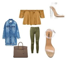 """""""So show me why you're strong"""" by lovebuguni on Polyvore featuring Boohoo, Jakke, YEEZY Season 2, Hermès and Current/Elliott"""