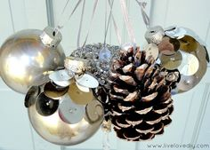 Tons of great ornament ideas! #christmasideas  #ornaments