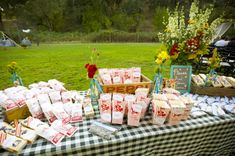 Picnic Wedding Snack Table
