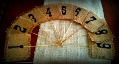Burlap Wedding or Event Table Numbers. $4.00, via Etsy.