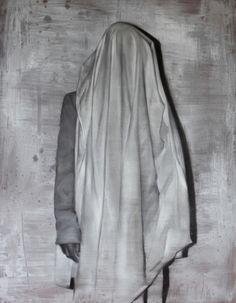 """Joahn Barrios, inauguración de su primera exposición individual en España, bajo el título """"Ejercicios de ruptura"""".   En la imagen: Performance para un somnámbulo, óleo sobre lienzo, 130x100cm"""