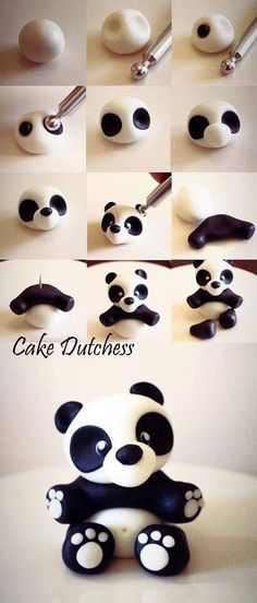 Panda Bear out of fondant