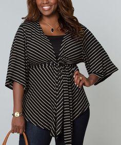 Look at this #zulilyfind! Black & Cream Stripe Sunday Afternoon Bellini Convertible Top - Plus #zulilyfinds