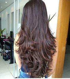 Projeto Along Hair – Recupere em 30 dias Haircuts For Long Hair With Layers, Haircuts Straight Hair, Long Layered Haircuts, Straight Layered Hair, Long Curly Hair, Long Hair Cuts, Front Hair Styles, Curly Hair Styles, Face Shape Hairstyles