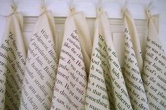Literary Dish Cloths   featuring pages by Oscar Wilde and Katherine Mansfield