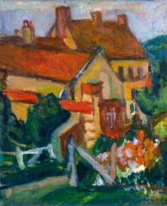 Judit Virág Gallery and Auction House is specialised in Hungarian paintings from the centuries, Art-Nouveau Zsolnay ceramics. Yellow Houses, Red Roof, Art Nouveau, Auction, Gallery, Lent, Paintings, Artists, Fall Living Room