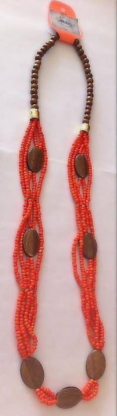 Collar Moca  100% #handmade #mocaaccesorios #Colombia Ref. C.M004//