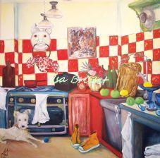Maurice dans la cuisine