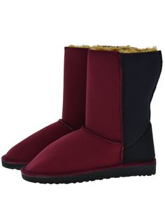 Scuba Neoprene Fabric Everest Air winter boots. Model style: Neo-Burgundy/Black Gaga