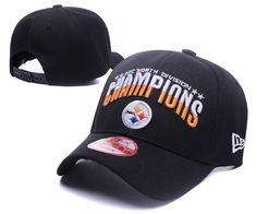 Men s   Women s Pittsburgh Steelers 2016 AFC North Division Championship  Baseball Adjustable Hat - Black 792a240cb