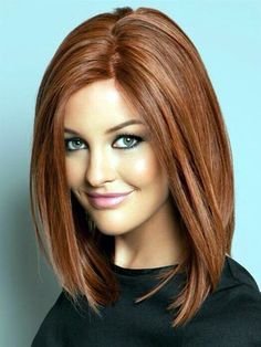 The medium tone of the copper hue color enhances your beauty.