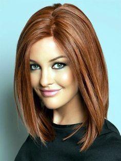 The medium tone of the copper hue color enhances your beauty.