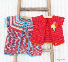 Babyvestje haken - Zomerse dagen vragen om zomerse kleding en ook aan de kleintjes wordt gedacht! Bekijk hier het gratis patroon in drie verschillende maten