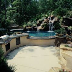 Outdoor kitchen and pool.  I don't think we have the room for this, but something this awesome would be great