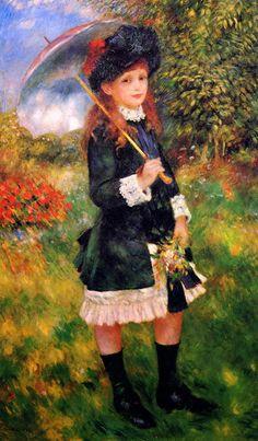 Νεαρό κορίτσι με ομπρέλα (1883)